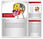 Education & Training: Head Full Word Template #08298