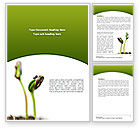 Agriculture and Animals: Sprouting Seed Word Template #08302