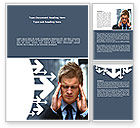 Consulting: Business Trouble Word Template #08311