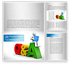 Education & Training: Questions & Answers Word Template #08319