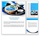 Careers/Industry: Blue Bath Salt Word Template #08325