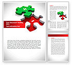 Consulting: Jigsaw Plus Word Template #08328
