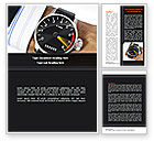 Business Concepts: Clock Timer Word Template #08329