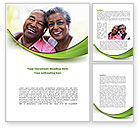 People: Elderly Spouse Word Template #08332