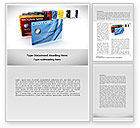 Financial/Accounting: Credit Card For Long Range Payment Word Template #08334