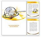 Global: Yellow Globe Word Template #08345