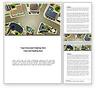 Construction: Building Satellite View Word Template #08346