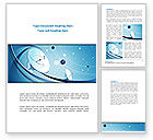 Telecommunication: Parabolic Antennas On Masts Word Template #08348