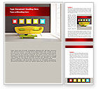 Careers/Industry: Yellow Couch Word Template #08350