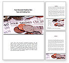 Financial/Accounting: Personal Savings Word Template #08365