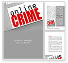 Legal: Online Crime Word Template #08377