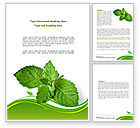 Nature & Environment: Mint Word Template #08379