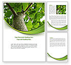 Nature & Environment: Tree Growth Word Template #08387