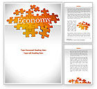 Financial/Accounting: Economy Puzzle Word Template #08393