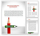 Education & Training: School Sign Word Template #08395