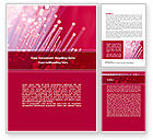 Telecommunication: Optical Fiber Communication Lines Word Template #08398