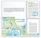 Nature & Environment: Flowers and Birds Word Template #08401