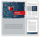 Holiday/Special Occasion: Valentine Theme Word Template #08409