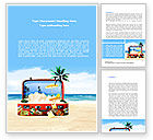 Careers/Industry: Vacation Suitcase Word Template #08412