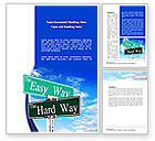 Consulting: Easy or Hard Way Word Template #08420