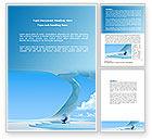 Business: Futuristic Interior Design Word Template #08421