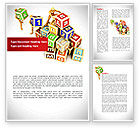Business: Toy Blocks Word Template #08423