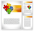 Consulting: Colorful Puzzles Word Template #08425