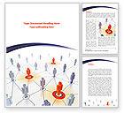 Telecommunication: Connections In The Network Word Template #08428