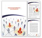 Telecommunication: Modelo do Word - conexões na rede #08428