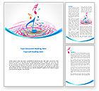 Art & Entertainment: Music Swirl Word Template #08432