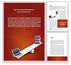 Education & Training: Computer or Books Word Template #08441