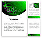 Abstract/Textures: Green Pointing Arrow Word Template #08444