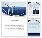 Nature & Environment: North Sea Windmills Word Template #08445