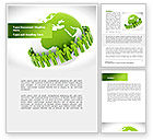 Religious/Spiritual: Green Planet Protection Word Template #08447