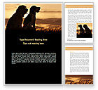 Agriculture and Animals: Dog Couple Word Template #08454