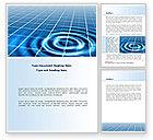 Technology, Science & Computers: Plantilla de Word - efecto de ondulación #08457
