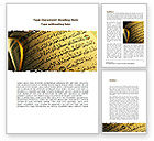 Religious/Spiritual: Arabic Book Word Template #08474