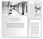 Medical: Hospital Corridor Word Template #08475