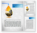 Utilities/Industrial: Oil Plant Word Template #08497