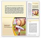 Sports: Baseball Pitcher Throw Word Template #08506