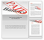 Financial/Accounting: Financial Payment Word Template #08508
