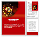 Food & Beverage: Whiskey in Rock Word Template #08534