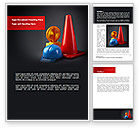Construction: Roadworks Word Template #08538