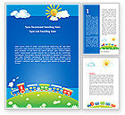 Education & Training: Jolly Train Ride Word Template #08543