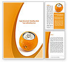 Careers/Industry: Orange In Can Word Template #08544