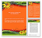 Holiday/Special Occasion: Floral Ornaments Word Template #08555