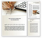 Financial/Accounting: Calculation Accounts Word Template #08565