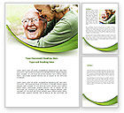 People: Elderly Couple Word Template #08571