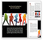 Careers/Industry: Party Girls Word Template #08573