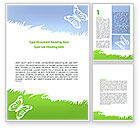 Holiday/Special Occasion: Summer Butterfly Word Template #08577
